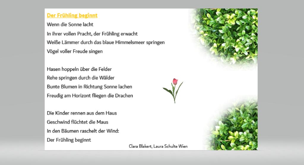 Clara und Laura Der Frühling beginnt.