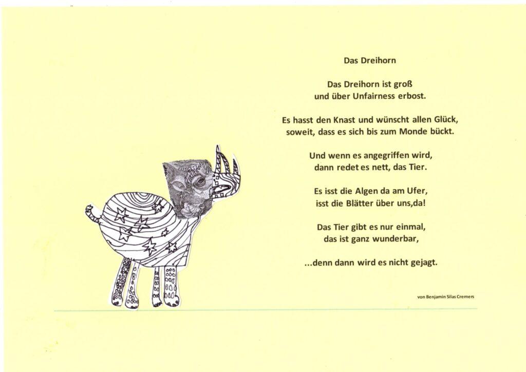 Fantastisches Gedicht von Benjamin.