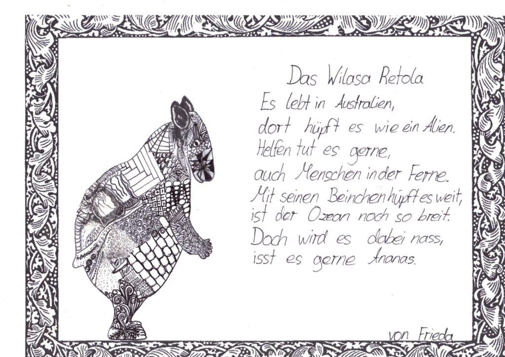 Fantastisches Gedicht von Frieda.