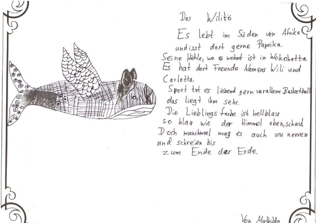 Fantastisches Gedicht von Mathilda.