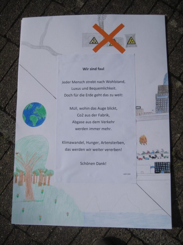Politisches Gedicht von Leo.