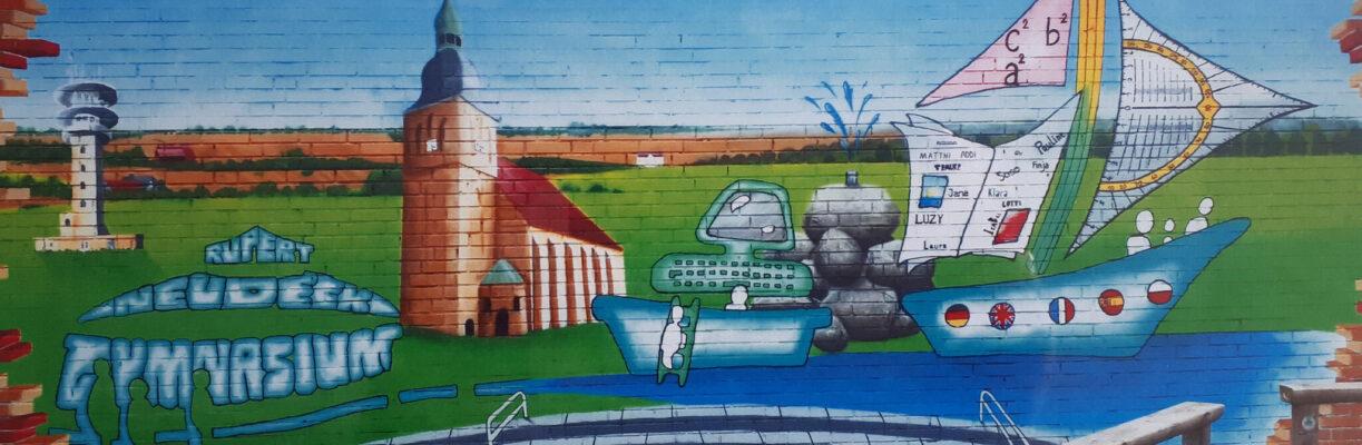 Graffiti am Rupert-Neudeck-Gymnasium Nottuln.